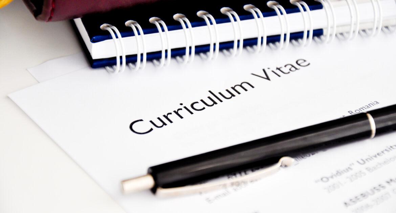 CV under a pen