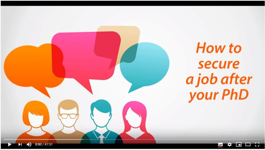 How to Secure a Job after your PhD Google Hangout on Air