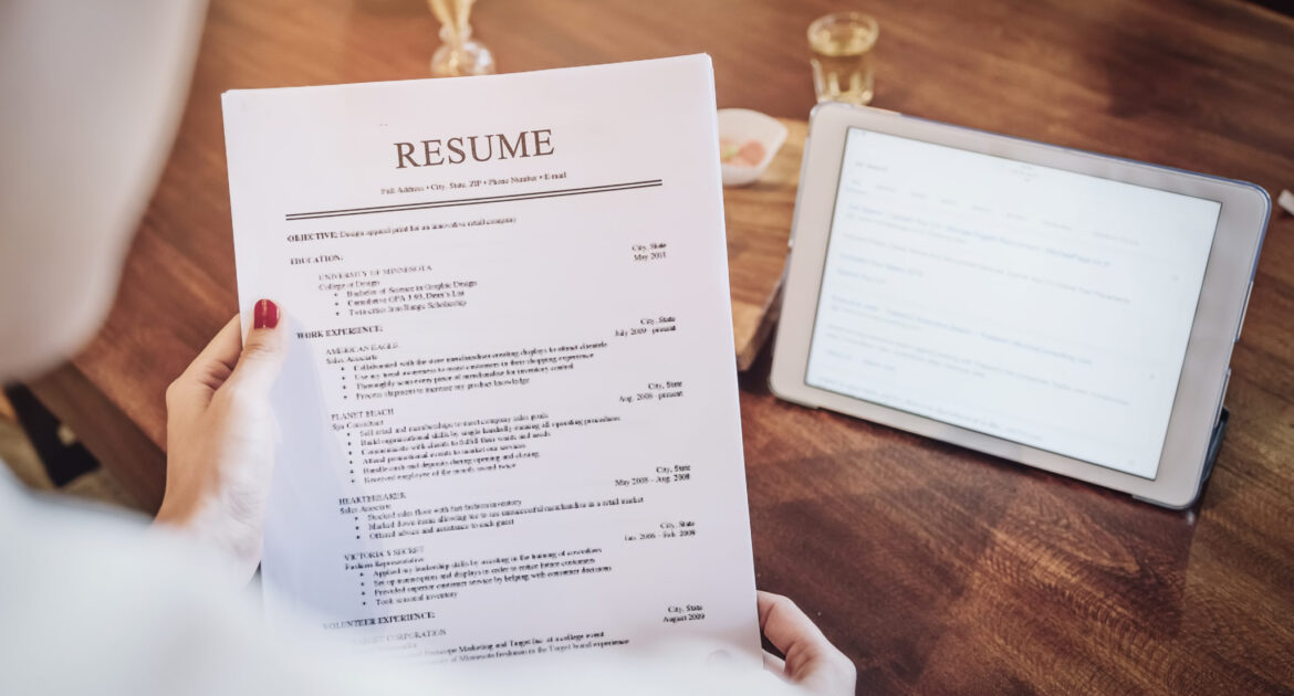 Refresh your CV