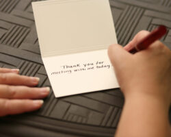 Sending a Thank You Note after an Academic Interview