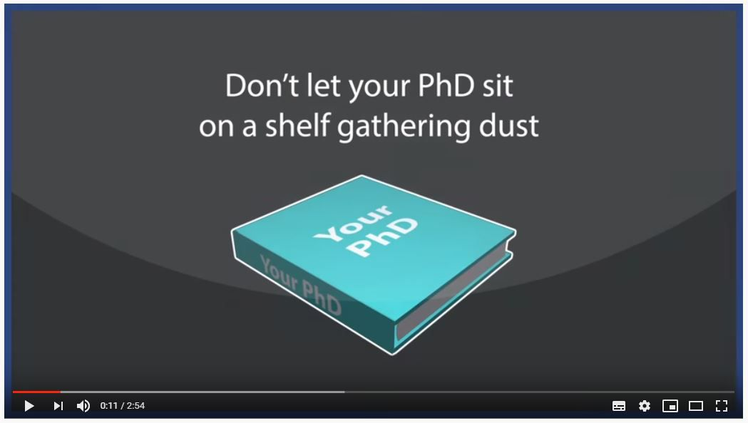 Turning Your PhD into a Book