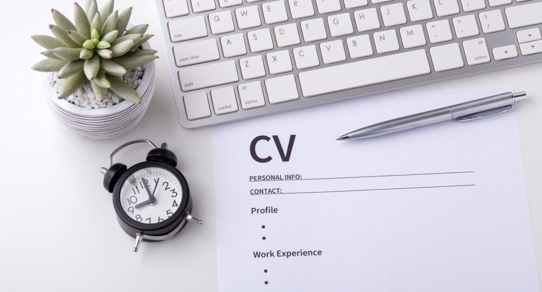 Writing A CV scaled
