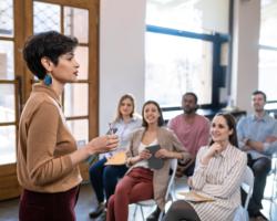 Female speaking to audience